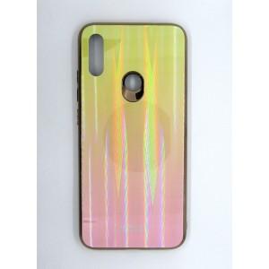 Силикон AURORA GLASS Xiaomi Redmi Note 7 (yellow)