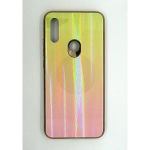 Силикон AURORA GLASS Xiaomi Redmi 7 (yellow)