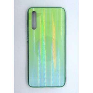 Силикон AURORA GLASS Samsung A50 (green)