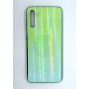 Силикон AURORA GLASS Samsung A70 (green)
