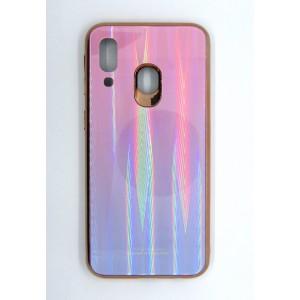 Силикон AURORA GLASS Samsung A40 (violet)