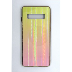 Силикон AURORA GLASS Samsung S10 (yellow)
