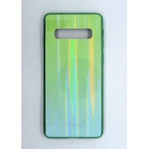 Силикон AURORA GLASS Samsung S10 (green)