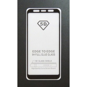 Стекло Samsung A6+ 2018 5D (black)