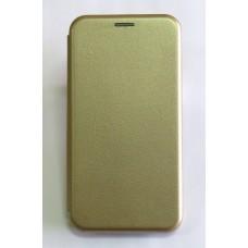 Чехол-книжка ориг кожа Samsung A40 (gold)