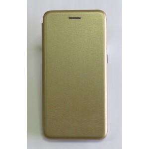 Чехол-книжка ориг кожа Samsung S10 (gold)