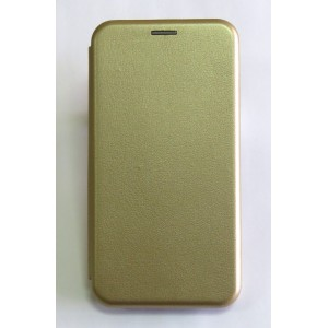 Чехол-книжка ориг кожа Samsung S10 plus (gold)