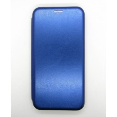 Чехол-книжка ориг кожа Xiaomi Redmi Note 6 (blue)