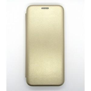 Чехол-книжка ориг кожа Xiaomi Redmi Note 8 PRO (gold)