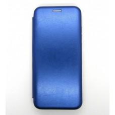 Чехол-книжка ориг кожа Xiaomi Redmi Note 8 PRO (blue)