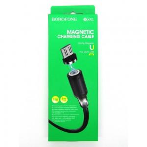 Data cable Borofone BX41 micro-USB магнит (black)
