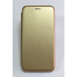 Чехол-книжка ориг кожа Samsung J2 core/J260 (gold)