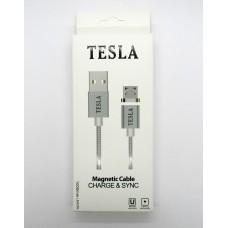 Data Cable Tesla micro-USB магнит (black)