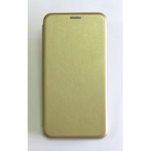 Чехол-книжка ориг кожа Xiaomi MI8 Lite (gold)