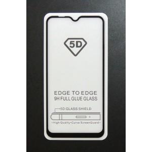 Стекло Samsung A10 5D (black)