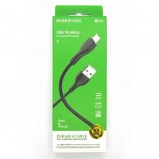 Data cable Borofone BX51 micro-USB (black)