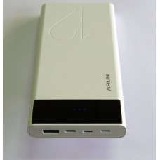 Power Bank Arun E-12 (12000 mA) (white)