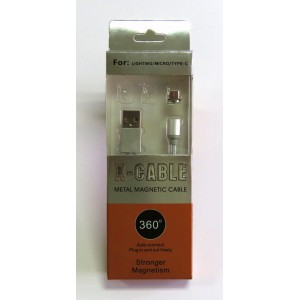 Data cable micro-USB магнит 360 X-cable (silver)