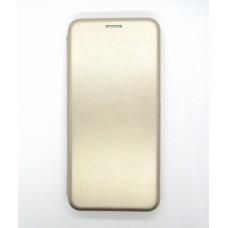 Чехол-книжка ориг кожа Xiaomi Redmi Note 9 (gold)