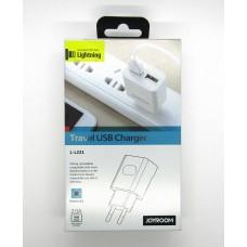 СЗУ JOYROOM блочек+кабель iPhone5 L-L221 (white)