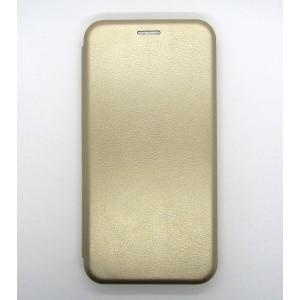 Чехол-книжка ориг кожа Samsung A10S/A107 (gold)
