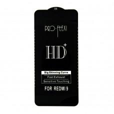 Стекло Pro-Flexi HD Xiaomi Redmi 9/9A/9C (black)
