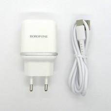 СЗУ Borofone + кабель Type-C BA36A (white)