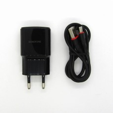 СЗУ Borofone + кабель Type-C BA48A (black)