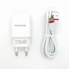 СЗУ Borofone + кабель Type-C BA20A (white)