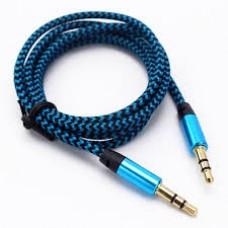 Cable AUX 3,5 ткань (blue)