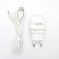 СЗУ блочек hoco C12 + кабель (white)