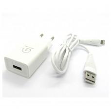 СЗУ WUW T18 блочек+кабель iPhone (white)