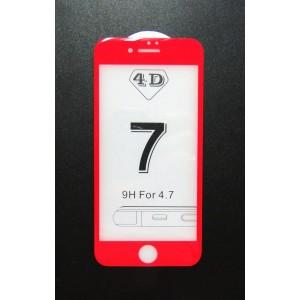 Стекло iPhone 7 4D (red)