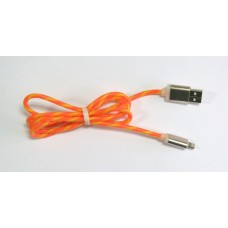 Data Cable ELASTICK NEW iPhone 5 (orange-yellow)