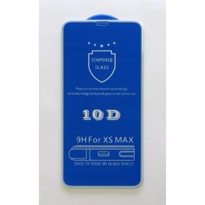 Стекло iPhone XS MAX 10D (white)