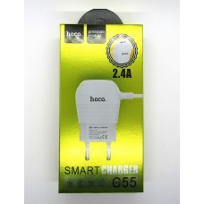 СЗУ hoco smart charger 2.4A C55 (white)