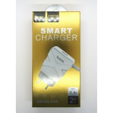 СЗУ hoco smart charger 2.4A C39 (white)