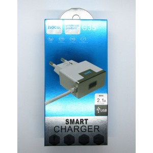 СЗУ hoco smart charger 2.1A C35 (white)