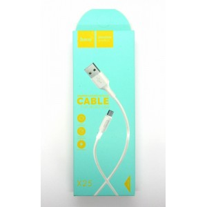 Data cable hoco premium X-25 micro USB (white)
