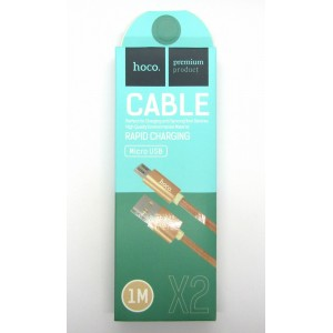 Data cable hoco premium X-2 micro USB (gold)