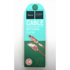 Data cable hoco premium X-2 micro USB (rose-gold)