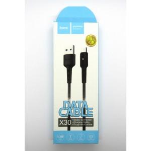 Data cable hoco premium X-30 micro USB (black)