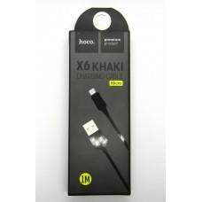 Data cable hoco premium X-6 micro USB (black)