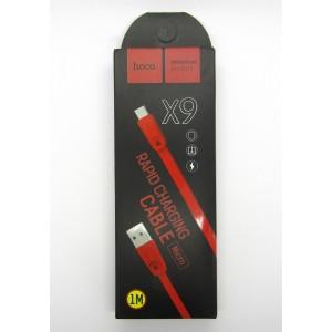 Data cable hoco premium X-9 micro USB (red)