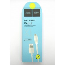 Data cable hoco premium X-1 micro USB (white)