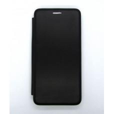 Чехол-книжка ориг кожа Huawei Y5 2019 (black)