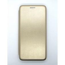 Чехол-книжка ориг кожа Huawei Y5 2019 (gold)