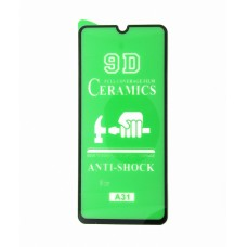 Стекло Ceramics Samsung A31 9D (black)