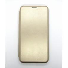Чехол-книжка ориг кожа Xiaomi Redmi Note 9 PRO/Note9S (gold)