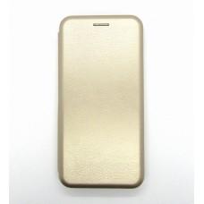 Чехол-книжка ориг кожа Samsung A41 (gold)